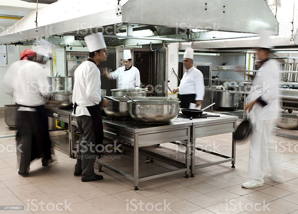 Working chefs royalty-free stock photo