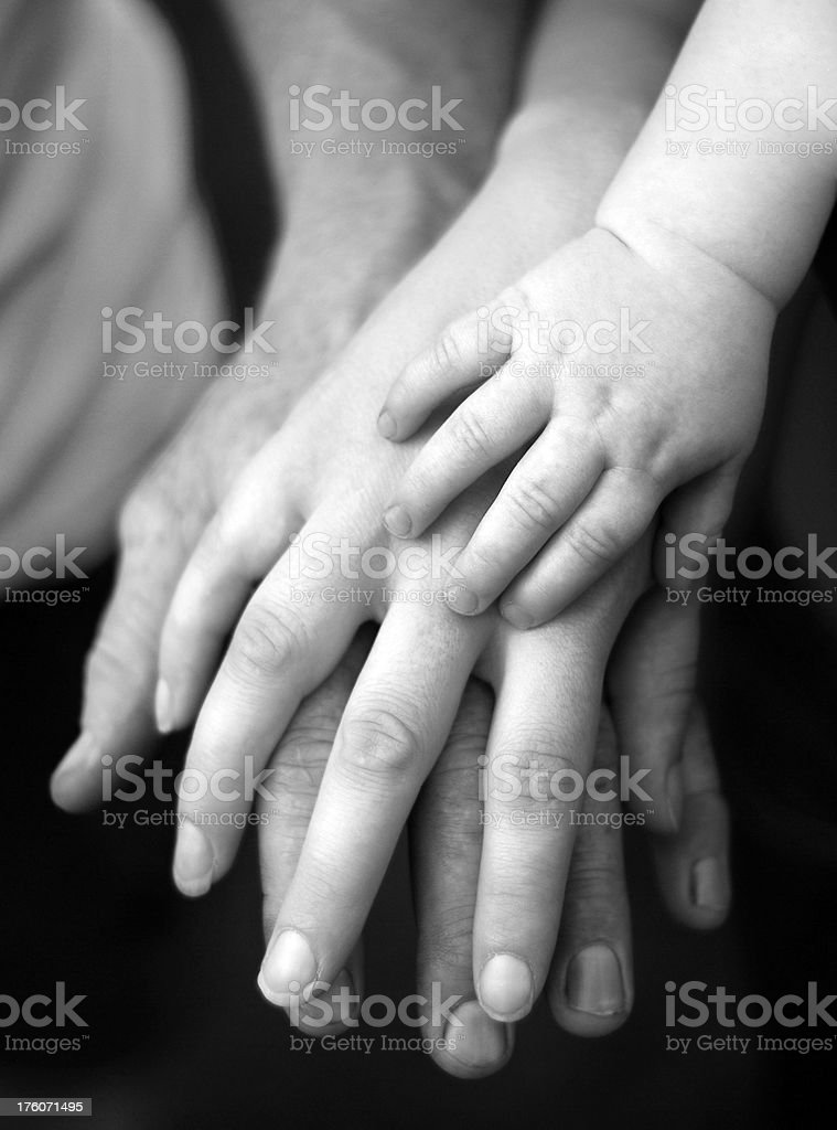 Working Class Family royalty-free stock photo