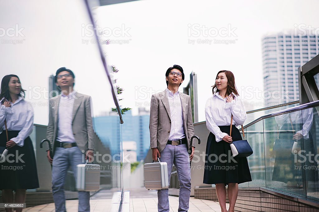 Working class in Japan stock photo