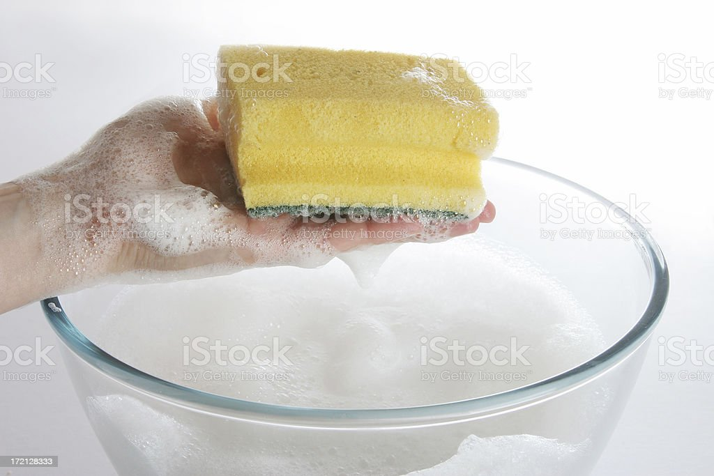 working, cleaning royalty-free stock photo