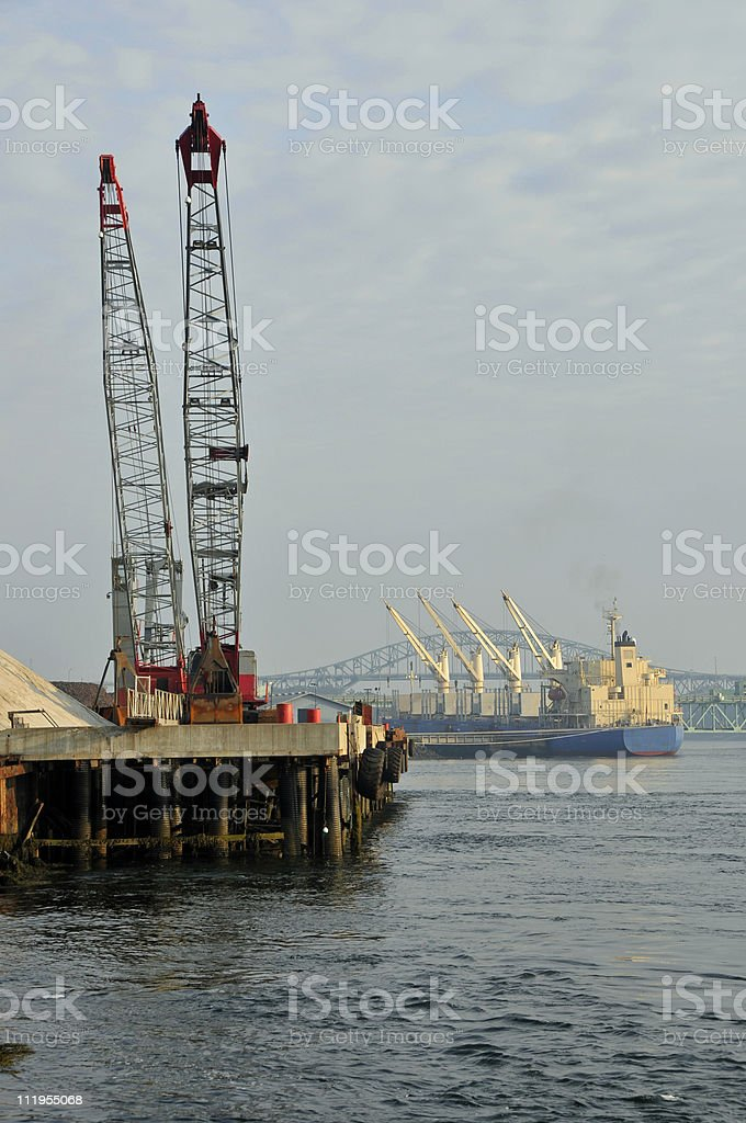 Working Commercial Seaport royalty-free stock photo