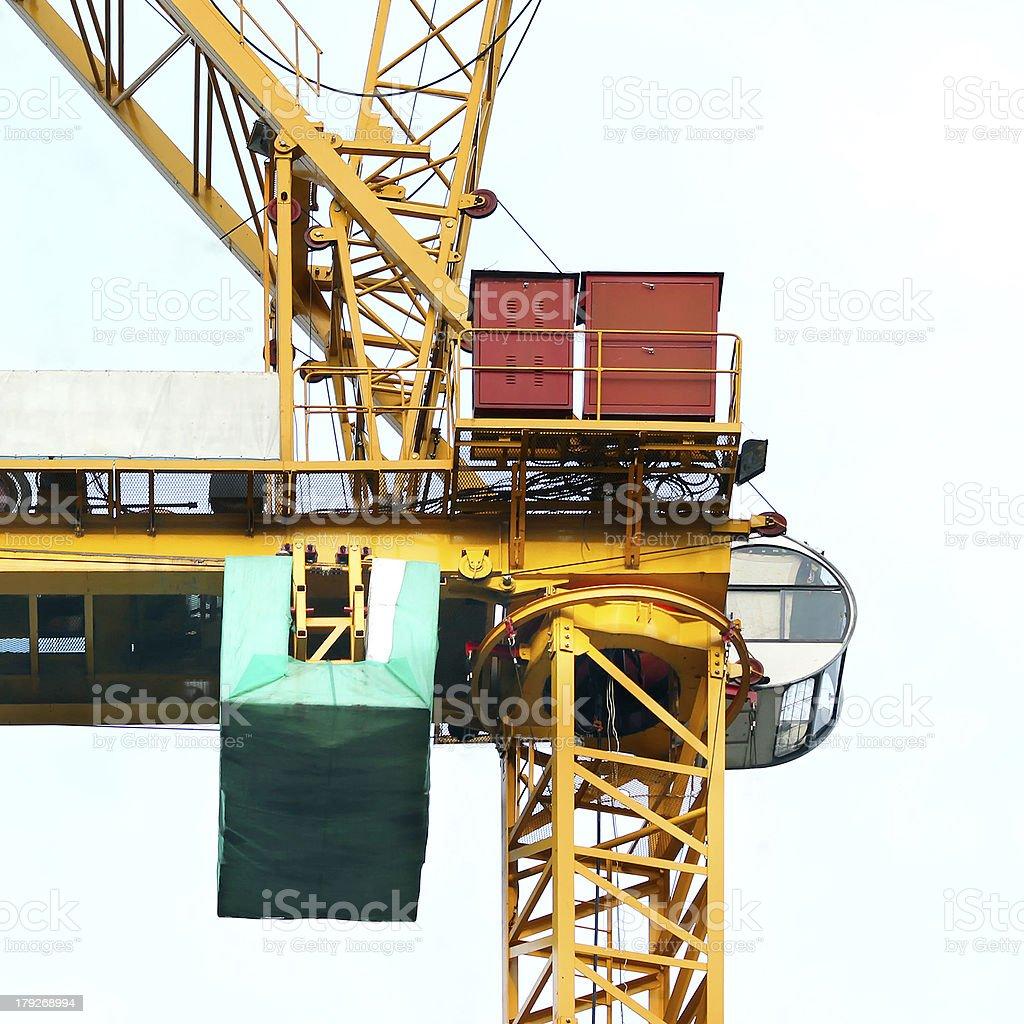 working crane royalty-free stock photo