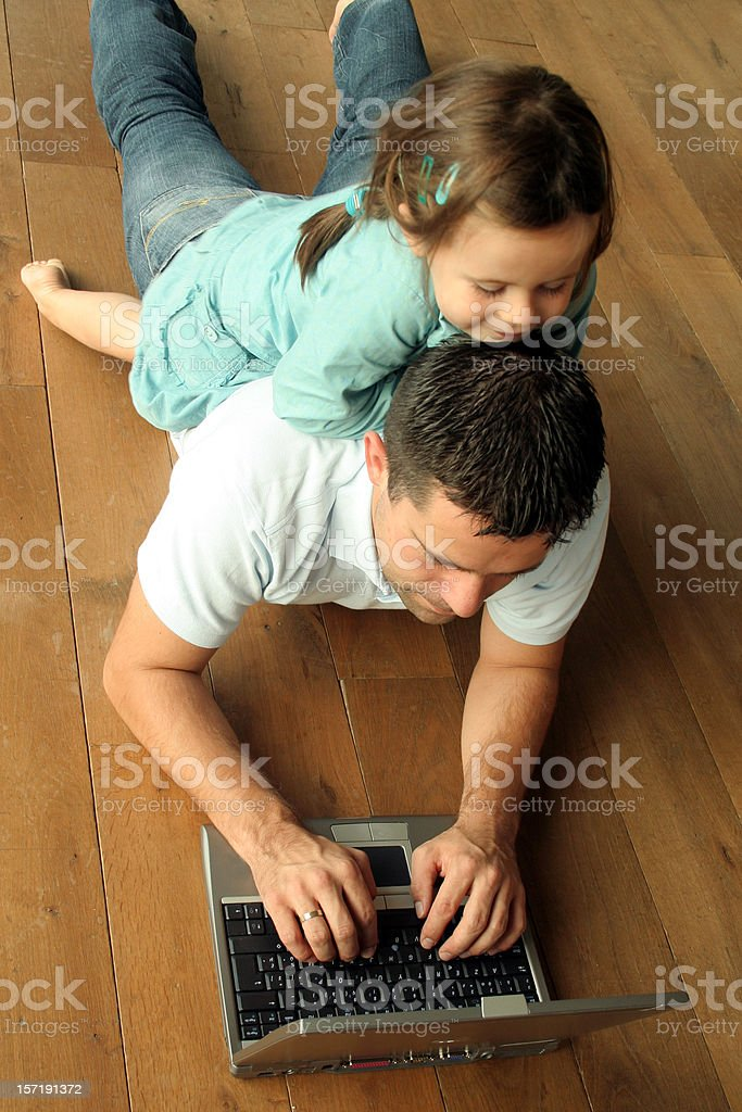 working dad royalty-free stock photo