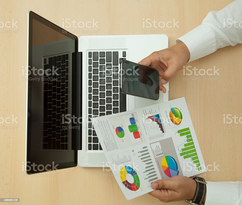 working day in the office stock photo