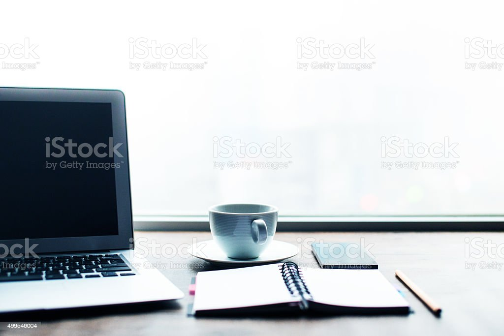 Working desk stock photo