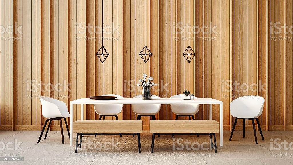 Working - Dining set modern stock photo
