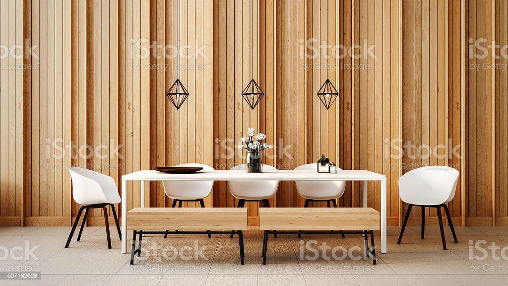 Working - Dining set modern stock photo