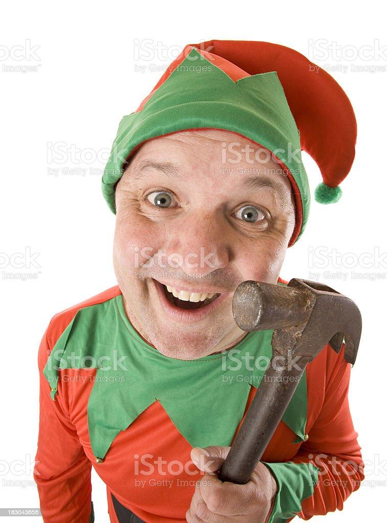 Working Elf stock photo
