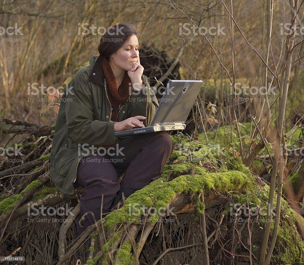 working everywhere stock photo