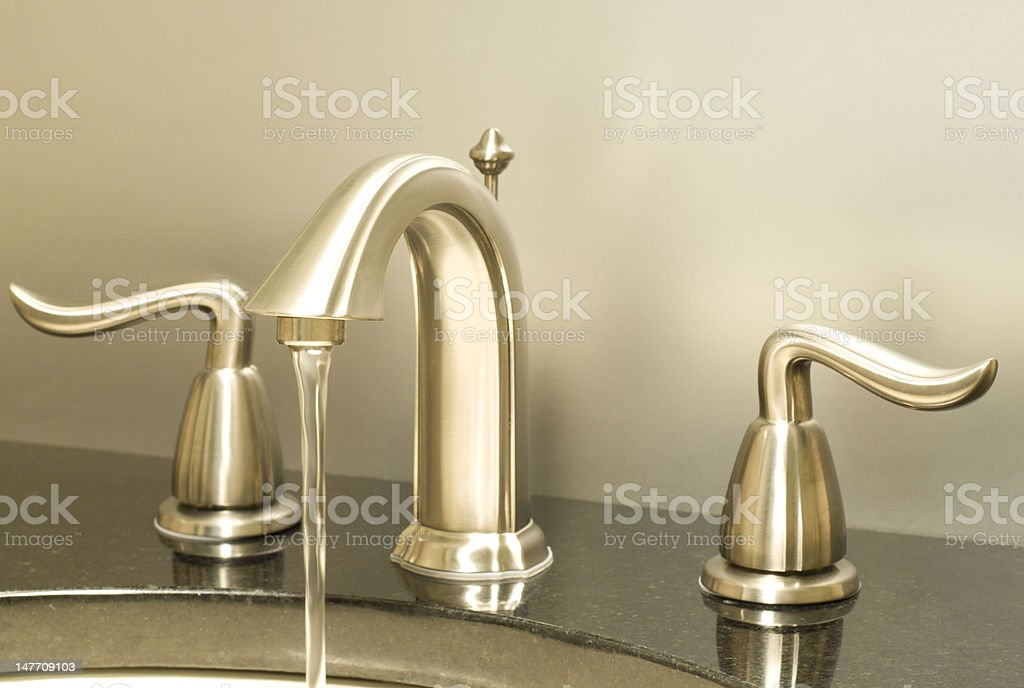 Working faucet stock photo