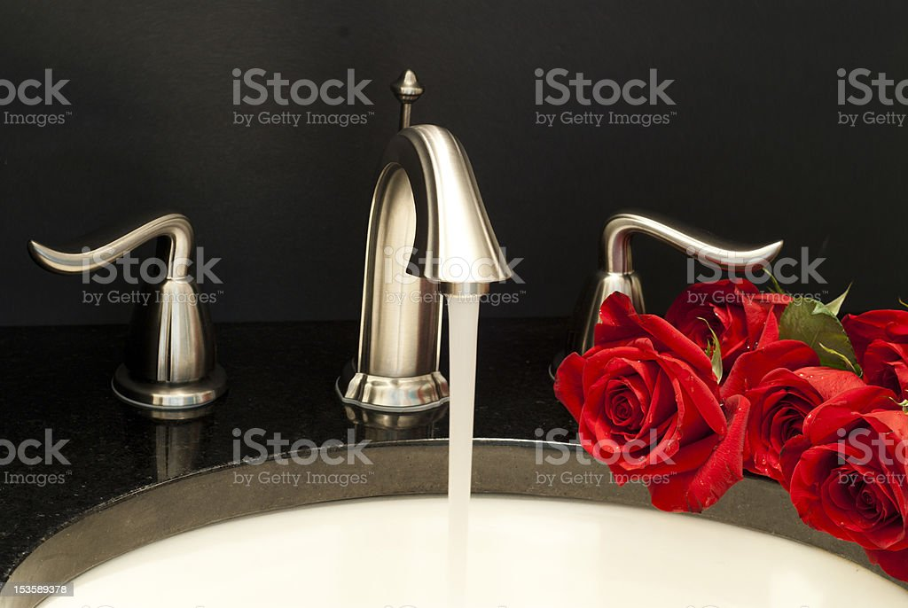 Working faucet royalty-free stock photo