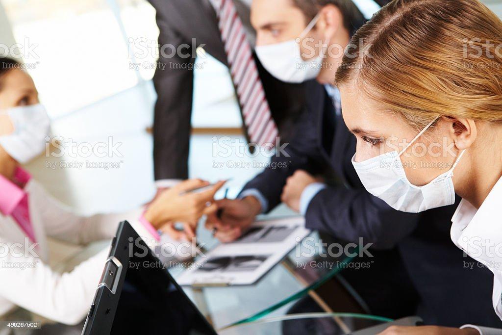Working female stock photo