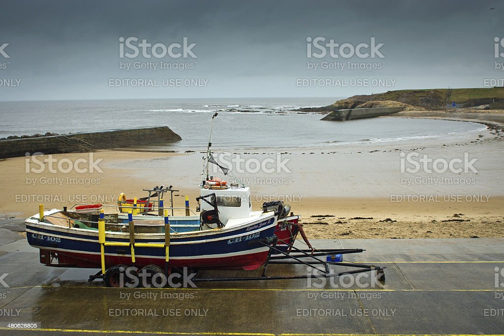 Working Fishing boats stock photo
