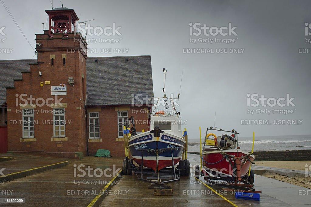 Working Fishing boats stock photo