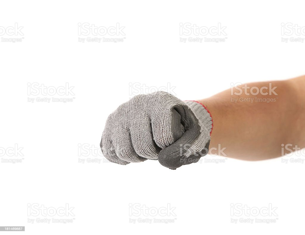Working fist. royalty-free stock photo