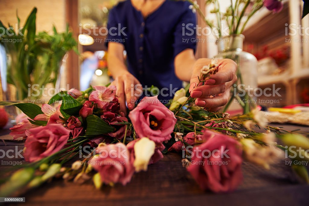 Working florist stock photo