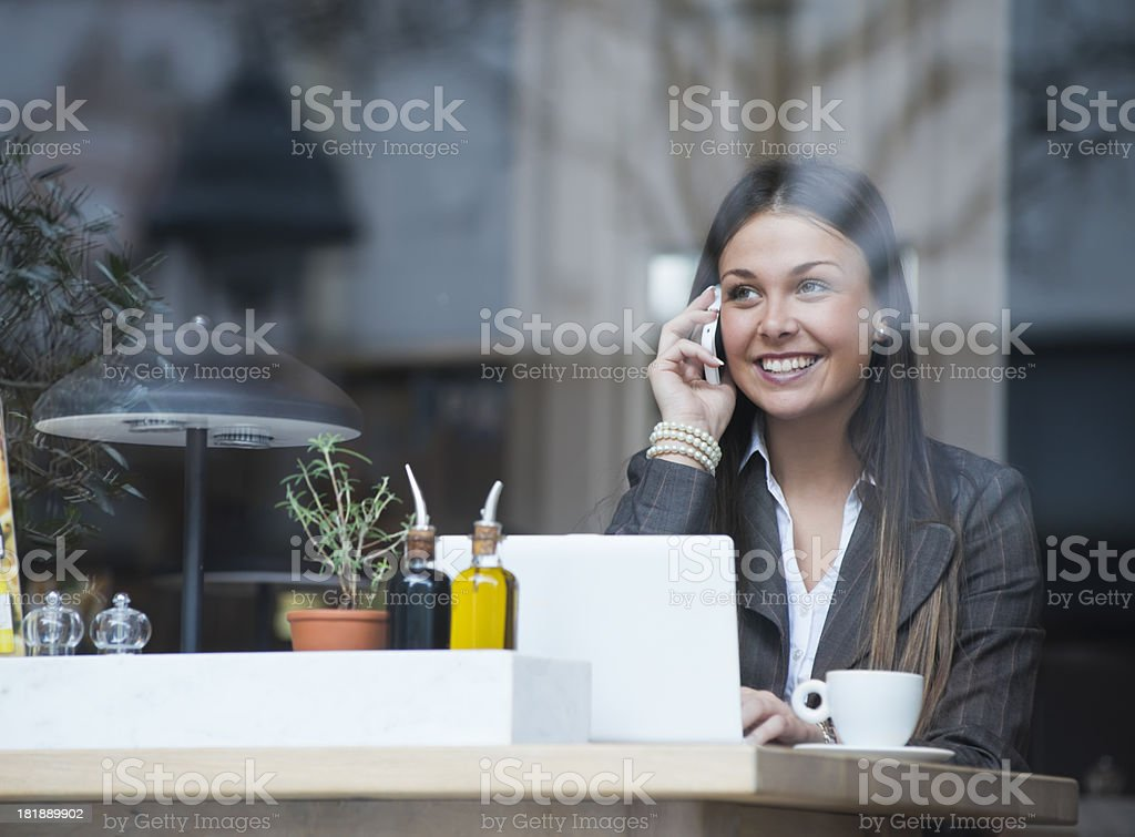 Working for coffee break royalty-free stock photo