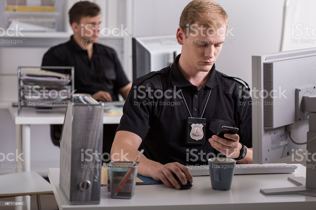 Working for the police stock photo