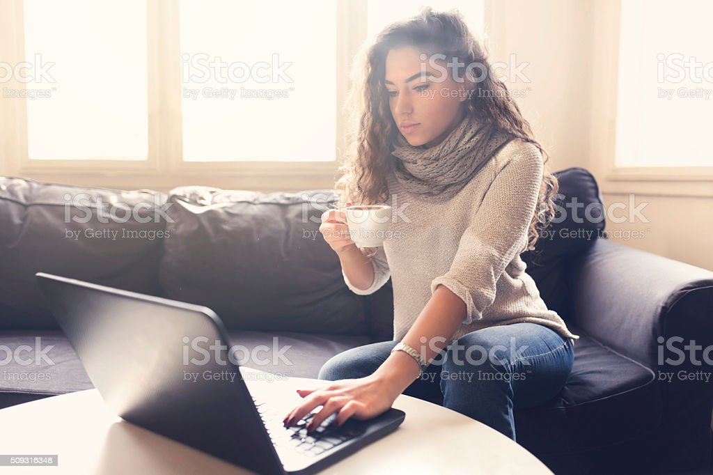 Working From Home - My Best Career Choice! stock photo