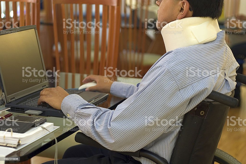 working from home stock photo
