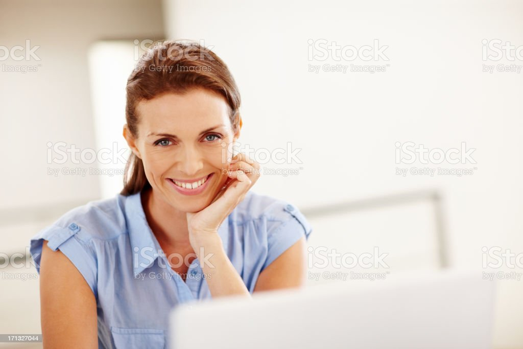 Working from the comfort of home royalty-free stock photo