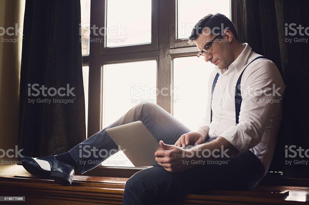 Working Gentleman stock photo