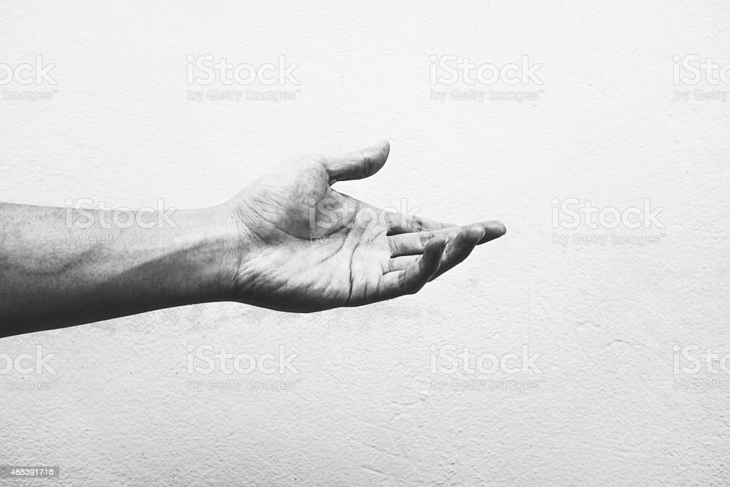 Working Hand Concept . Conceptual Photography - EMOTIONAL stock photo