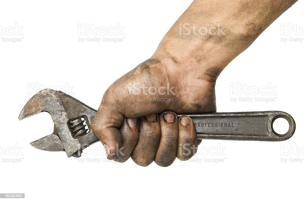 working hand stock photo