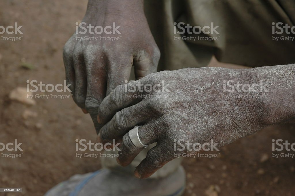 Working Hands Of An African Man royalty-free stock photo