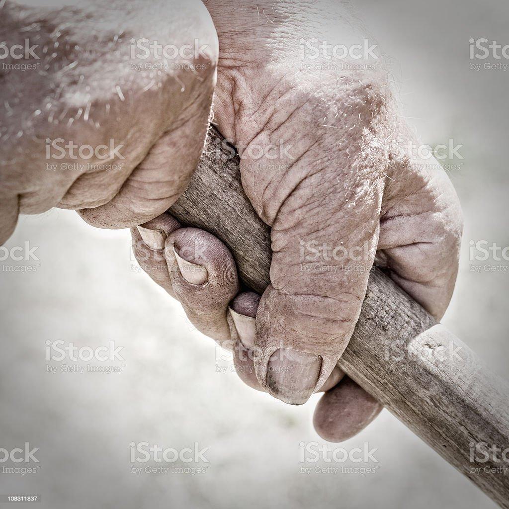 Working hands stock photo