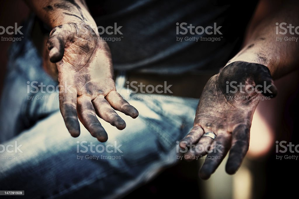 working hands stock photo