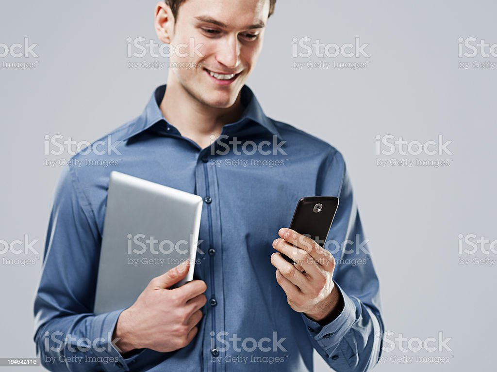 Working handsome man royalty-free stock photo