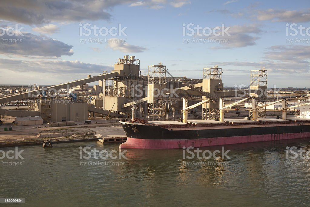 Working Harbor stock photo