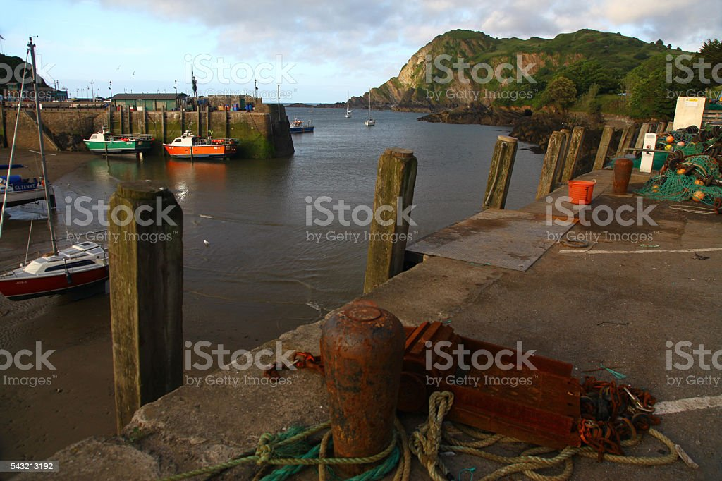 Working harbour stock photo