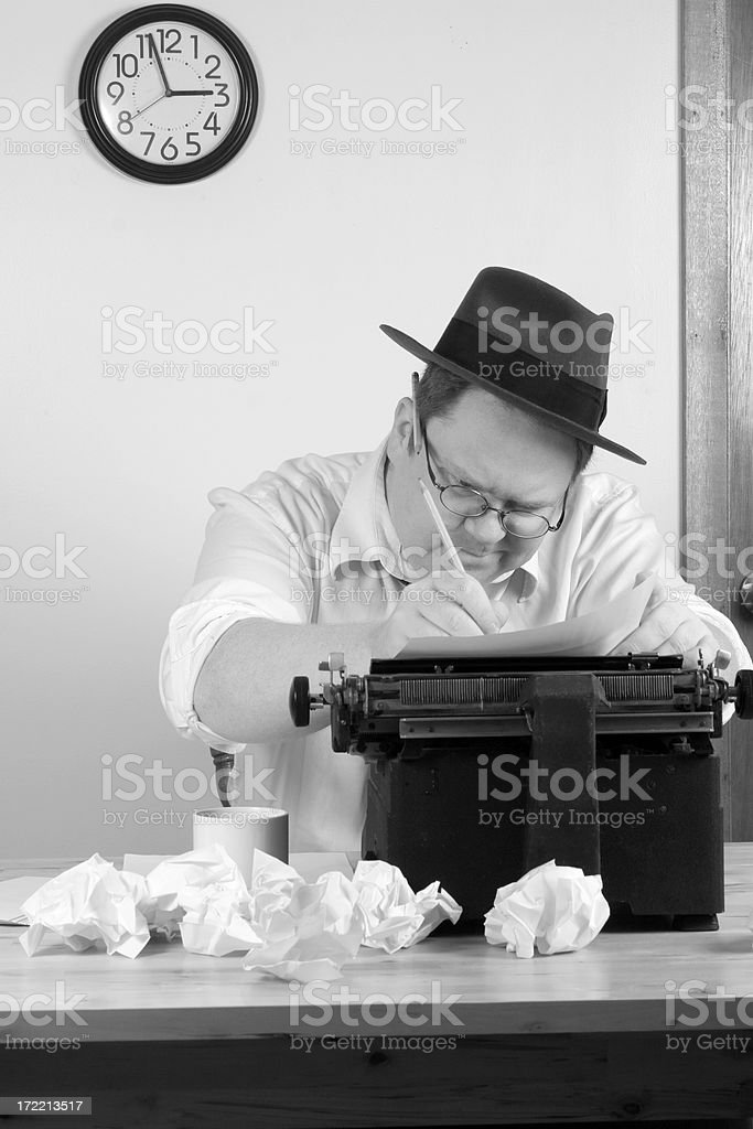 Working hard circa 1940 royalty-free stock photo