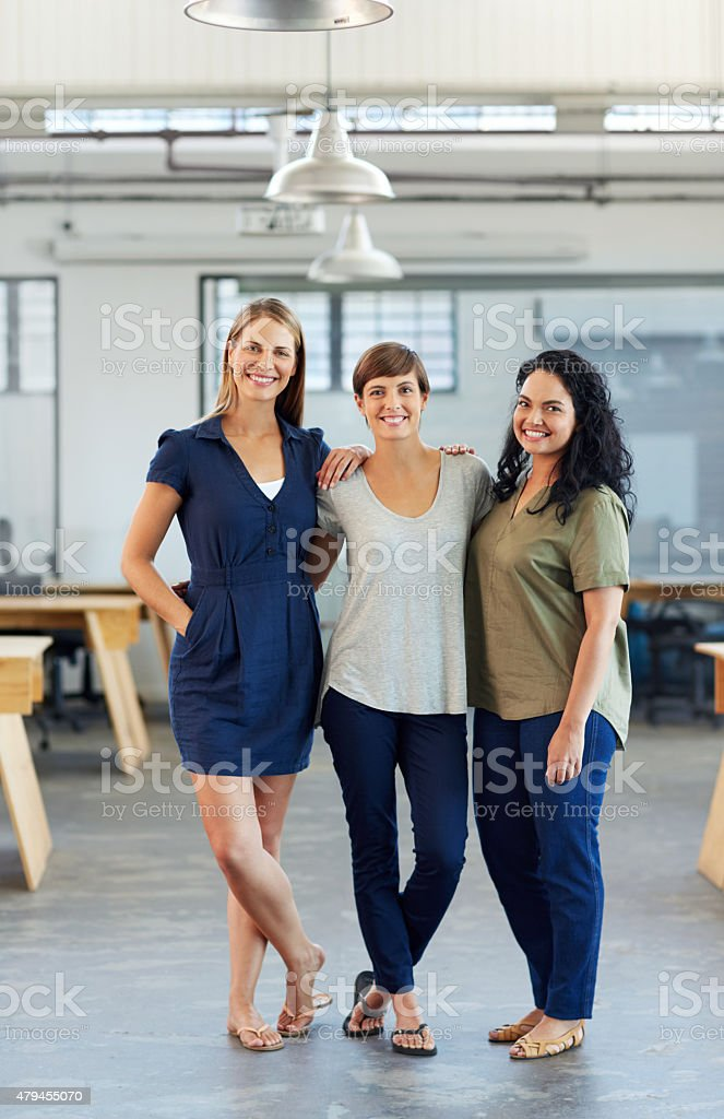 Working hard for the success they deserve stock photo