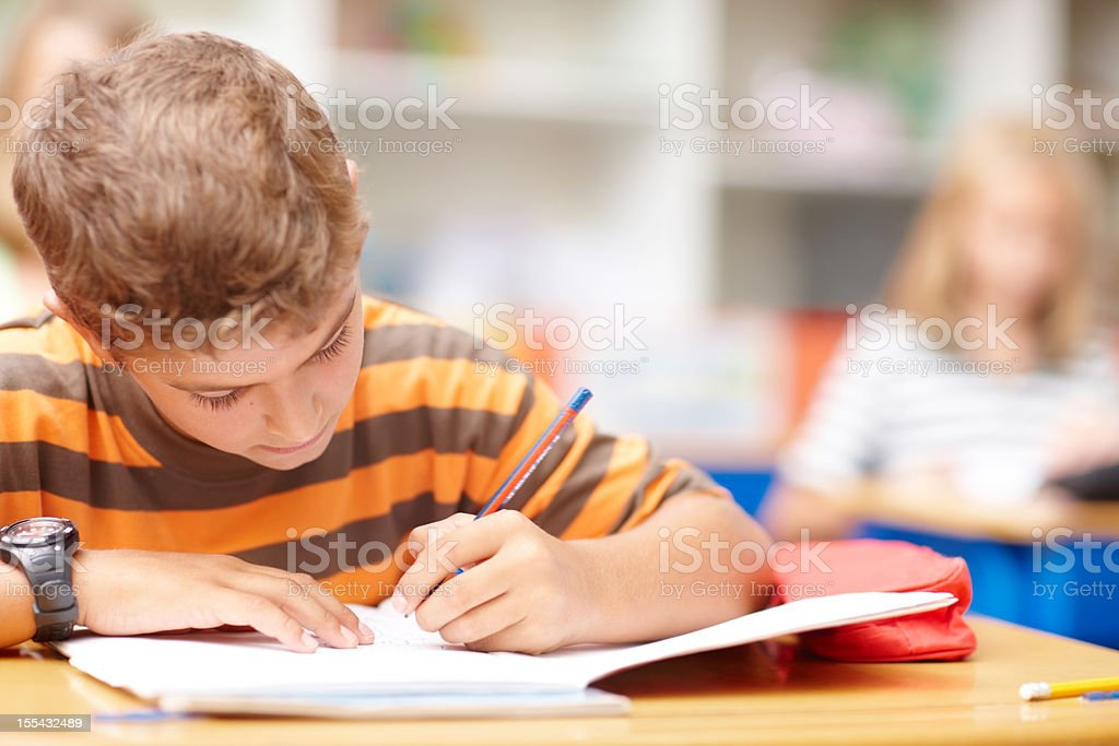 Working hard for top results stock photo