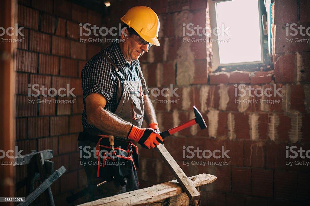 Working hard stock photo