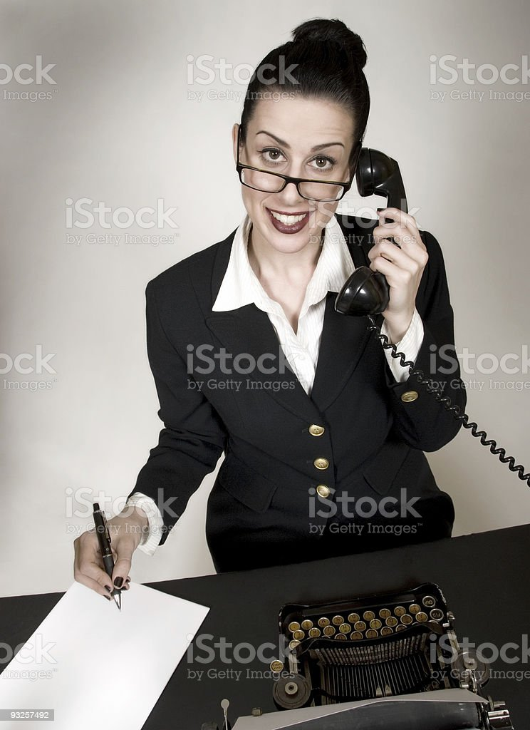 Working Hard royalty-free stock photo