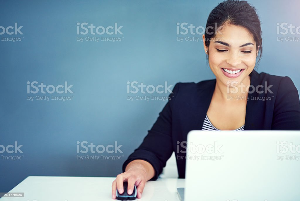 Working hard to ensure her success stock photo