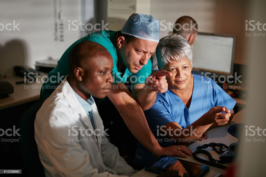 Working hard to fix the problem stock photo