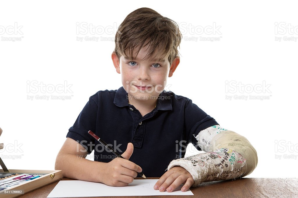 working hard with writing stock photo