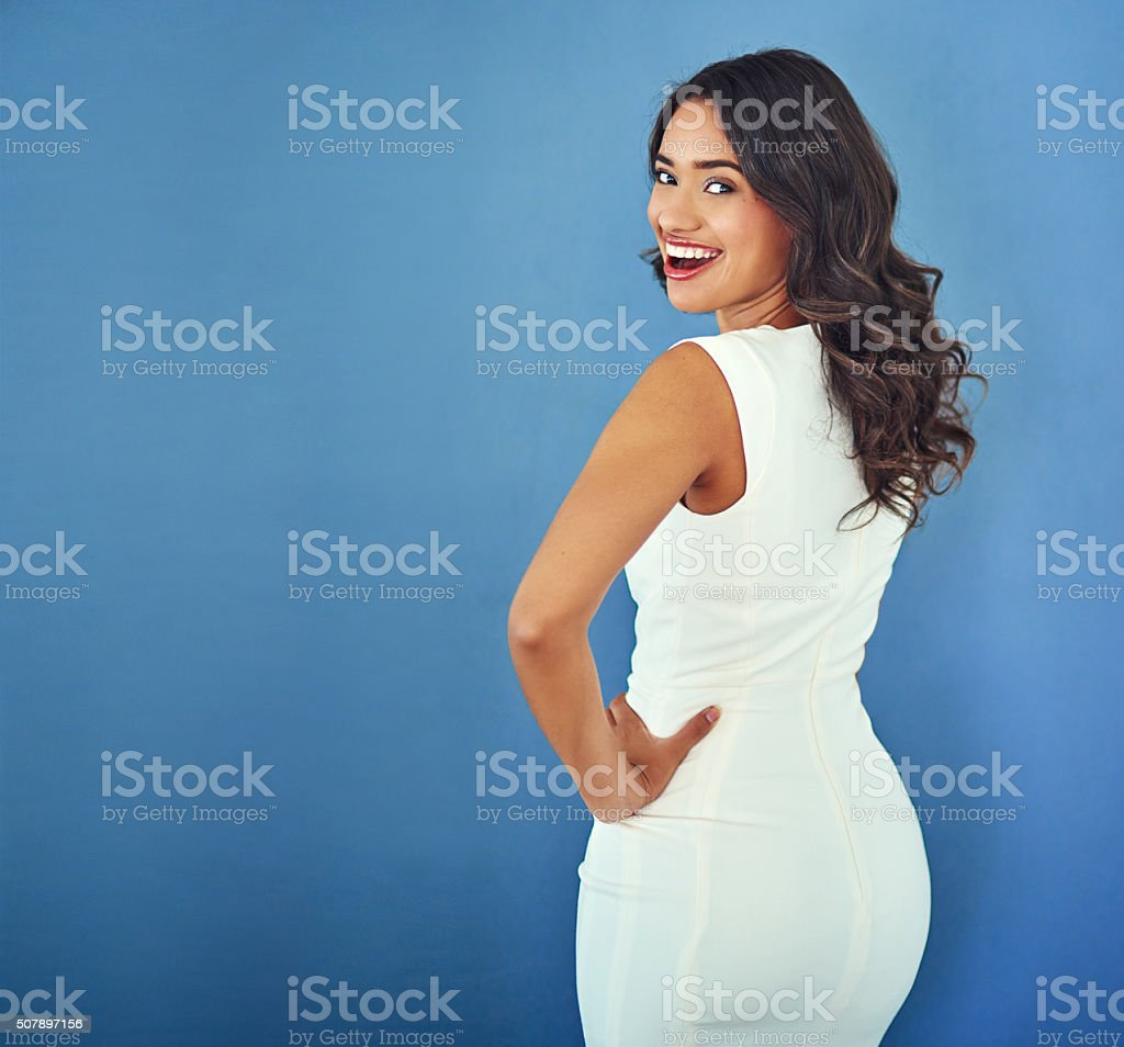 Working her confidence stock photo