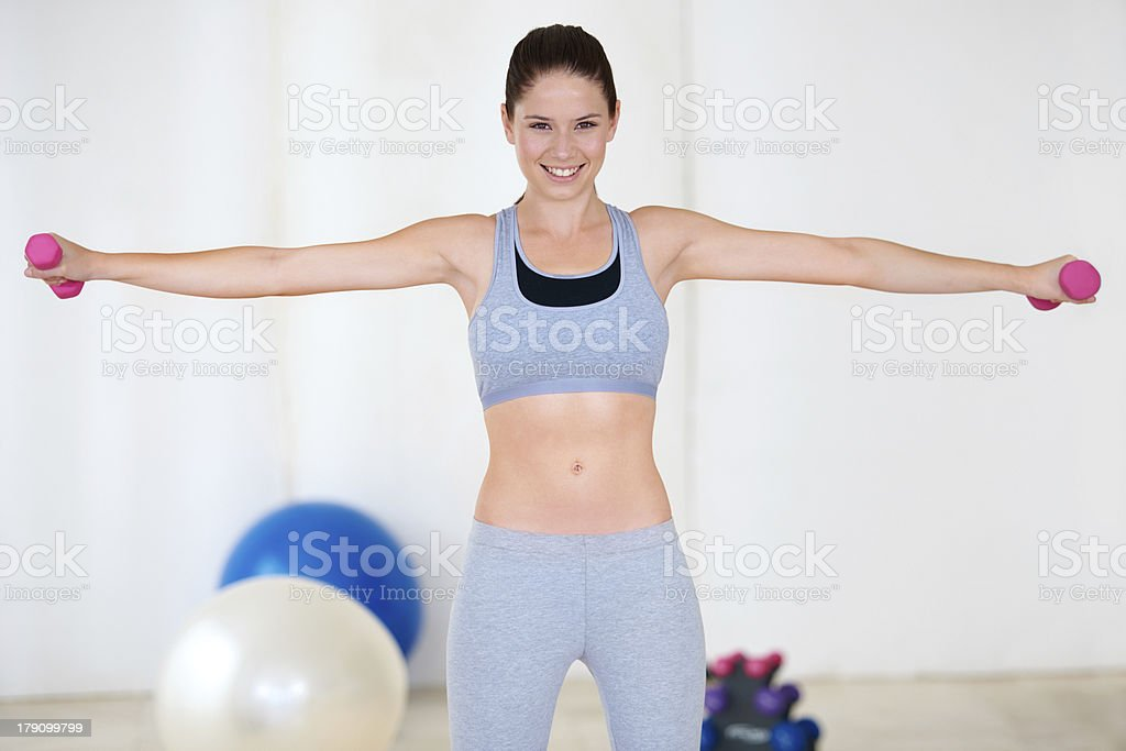 Working her shoulders royalty-free stock photo