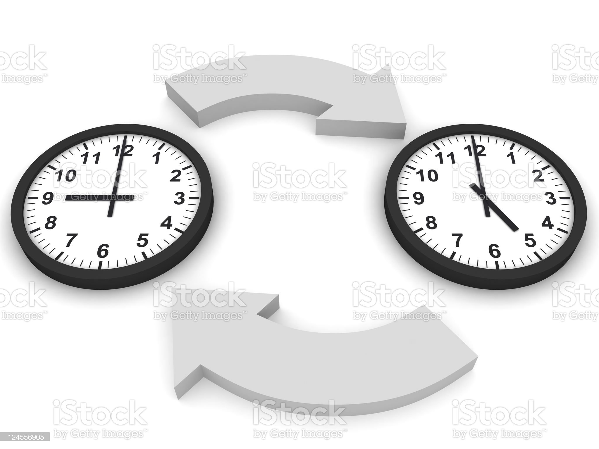 Working Hours royalty-free stock photo