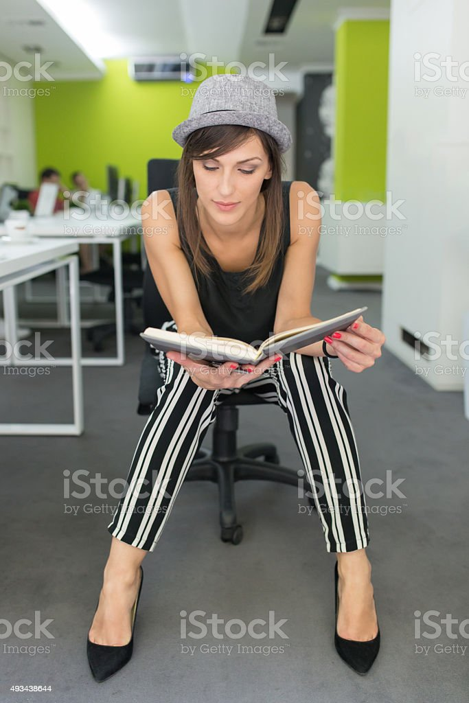 Working In A Book Publishing stock photo