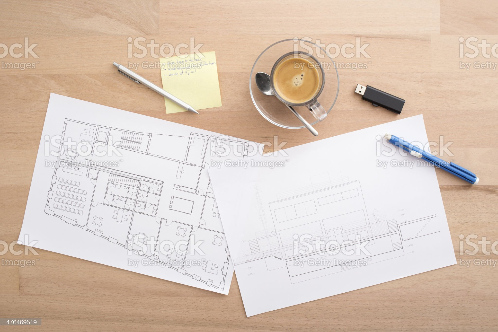 Working in a desk royalty-free stock photo
