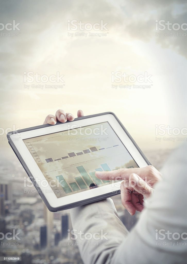 Working in a digital age stock photo