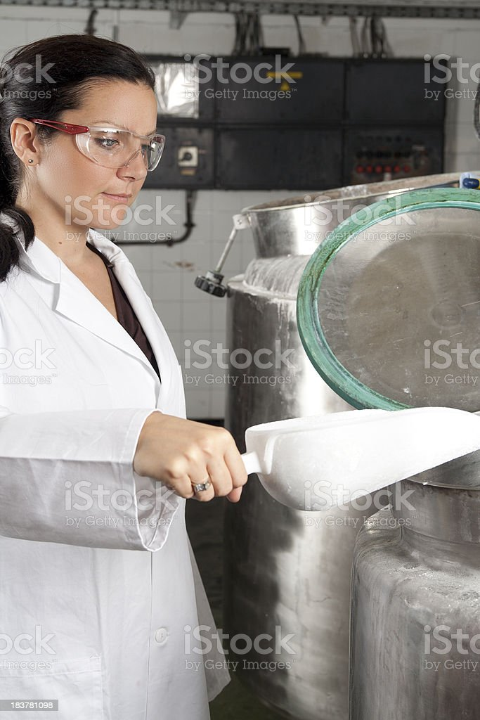 Working in a lab royalty-free stock photo