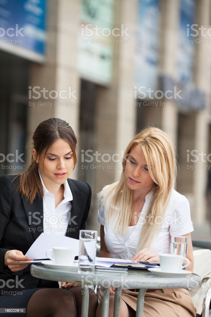 Working in Cafe royalty-free stock photo